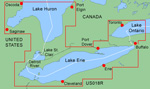 Garmin Bluechart US018R Lake Erie-Lake St. Clair Brand New Includes One Year Warranty, Product # 010-C0353-00 (microSD/SD Card) Product # 010-C0032-00 (Datacard) The Garmin BlueChart US018R navigation software contains information of both the U.S. and Canadian sides of the southern portion of Lake Huron. The card contains detailed coverage of the St. Clair River, Lake St. Clair, Detroit River, and the U.S. portion of Lake Erie through Buffalo. It also includes coverage of the Canadian portion of Lake Erie and the western side of Lake Ontario, including detailed coverage of Long Point Bay, Welland Canal, the Niagara River, and Toronto. The BlueChart US018R gives faithful representation of published official paper charts and contains chart-specific information like chart name and number, scale, revision date, latest 'Notice to Mariners' date. It also provides information of shaded depth contours, intertidal zones, spot soundings, navaids with view range and coverage, port plans, tides, wrecks, restricted areas and anchorages. This data card provides best offshore cartography around and works in seamless integration with a wide range of other Garmin products. BlueChart US018R Features: Lake Erie-Lake St. Clair Digital Map, Covers Both U.S. & Canadian Sides of the Southern Portion of Lake Huron, Chart-Specific Information, Object-Oriented Cartography, Faithful Representation of Published Official Paper Charts, Shaded Depth Contours, Intertidal Zones, Spot Soundings, Navaids w/ View Range & Coverage, Port Plans, Tides, Wrecks, Restricted Areas & Anchorages, Trip & Waypoint Management Functions, Models Compatible w/ Data Card Models Compatible w/ Micro SD Card