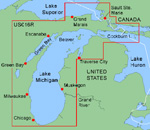"""Garmin Bluechart US016R Lake Michigan Brand New Includes One Year Warranty, Product # 010-C0351-00 (microSD/SD Card) Product # 010-C0030-00 (Datacard) The Garmin BlueChart US016R navigation software contains detailed coverage of Lake Michigan in its entirety and northern Lake Huron from Cheboygan, MI, to Blind River, Ont"