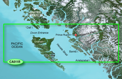 Garmin West Canada BlueChart Water Maps Bluechart g2 vision VCA011R Hecate Strait North