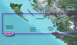 Garmin West Canada BlueChart Water Maps Bluechart g2 vision VCA010R Hecate Strait South