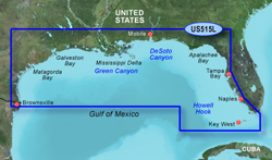 Garmin Gulf of Mexico BlueChart Water Maps Bluechart g2 vision VUS515L Brownsville Key Largo