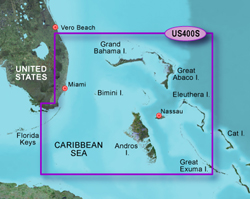 Garmin Caribbean Central America BlueChart Water Maps Bluechart g2 vision VUS400S Walkers Cay to Exuma Sound