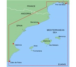 Spain Bluechart Maps garmin bluechart g2 heu454s barcelona and valencia