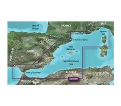Spain Bluechart Maps garmin bluechart g3 hxeu010r spain mediterranean coast