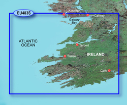 Ireland Bluechart Maps garmin bluechart g2 heu483s galway bay to cork
