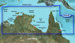 Garmin Australia BlueChart Water Maps garmin bluechart g2 hpc412s admiralty gulf wa to cair