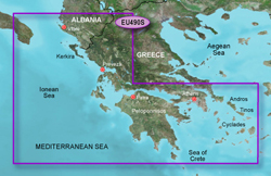 Greece Bluechart Maps garmin bluechart g2 heu490s greece west coast and athens