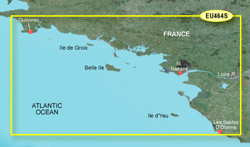 France Bluechart Maps garmin bluechart g2 heu464s penmarch to les sables d'olonne