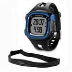 Garmin Forerunner15L-Black n Blue HRM Bundle GPS Running Watch