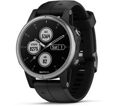 Garmin Handheld Hiking GPS garmin fenix 5s plus silver with black band