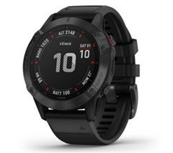 Garmin Fenix 6 Series garmin fenix 6 pro black with black band