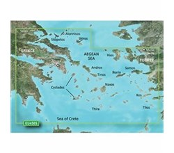 Greece Bluechart Maps garmin bluechart g3 vision veu450s athens cyclades