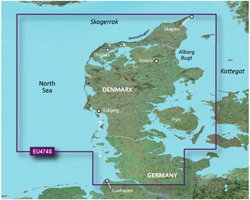 Netherlands Bluechart Maps garmin heu474s northern denmark & the eider