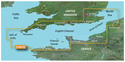 U.K. Bluechart Maps garmin bluechart g3 vision veu001r english channel