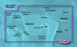 Garmin Polynesia BlueChart Water Maps garmin 010 c0865 00