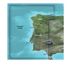 Spain Bluechart Maps garmin bluechart g3 vision veu009r portugal northwest spain