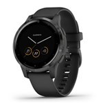 Garmin Vivoactive 4S-Black with Slate Hardware